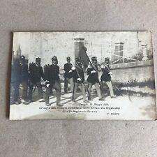 T) Postcard Military Format Small Perugia 1909 Brigade Alps D