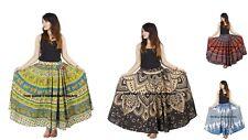 Envoltura alrededor de la India Falda Vestido Mujeres Mandala rapron Falda Larga Algodón Estampado