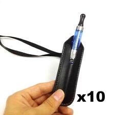 E-Cig Pen Holder Leather Pouch Neck Strap Lanyard Case for Ego Cigarette 10 pack