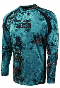 Pelagic Vaportek Belize L/S Performance Shirt Aqua Men's M, Lg, XL & 2XL $65 NWT