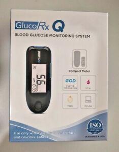 GlucoRx Q Blood Glucose Diabetic Monitor/Meter/System + Test Strips/Lancets