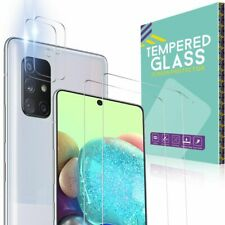 For Samsung A51 A71 5G 4G Full Cover Tempered Glass Camera Lens Screen Protector