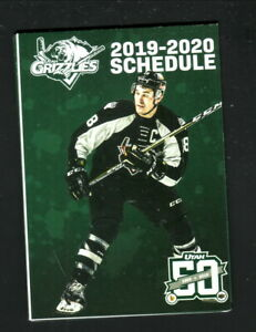 Utah Grizzlies--2019-20 Pocket/Poster Schedule--Lucky Stores-Avalanche Affiliate