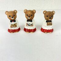 Vintage Christmas Choir Bears Porcelain Figurines Set Of 3 From HOMCO