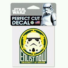 Oregon Ducks Star Wars Stormtrooper Perfect Cut Decal 4X4 Car Window