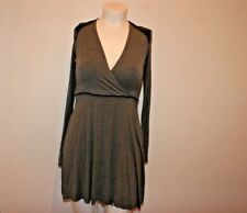 BAILEY/44  DRESS LONG SLEEVE FLARE GRAY DRESS RAYON /SPANDEX MADE IN USA SIZE L
