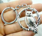 47*38M Hand-carved owl alloy Crafts, Key Chain, Key Ring Lover Gift A30