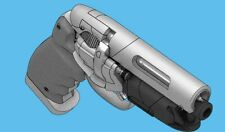 3D printed Blade Runner PKD Blaster Pistol Replica Prop Gun Model 3D printed Kit