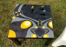 Hand-painted Multi-functional piece of Art/Resin Finished Piece/Refinished Table