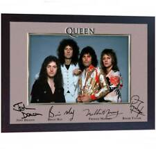 Queen Freddie Mercury Brian May Roger Taylor signed photo print autograph FRAMED