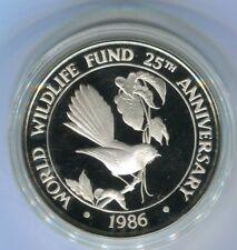Samoa 10 Dollars WWF 1986 Silber PP (M2371)