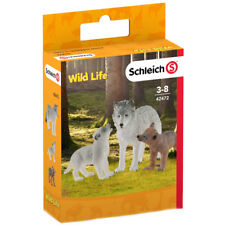 Schleich Wild Life Mother Wolf with Pups Animal Figure Pack 42472