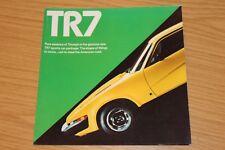 Triumph TR7 Large Square Sales Folder US Market 1970's