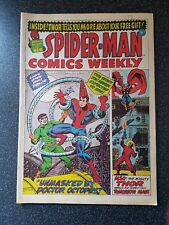 Spiderman Comics Weekly #4 UK Marvel 1973 Thor - FN condition