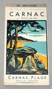 Vintage 1930's France Bretagne Carnac La Trinite sur Mer Travel Brochure