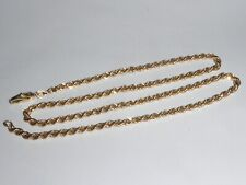 Gold 585 Gold Chain 14K Yellow Gold Necklace Curb Chain Rope Chain 44,5 cm 1526