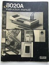 Fluke 8020A Portable Multimeter Instruction Manual P/N 459339