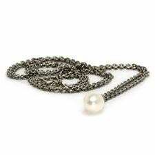 """Authentic Trollbeads Silver Fantasy Pearl Necklace 27.6"""" 54070"""