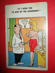 Saucy COMIC BUSTY LADY big boobs ACCORDION sore nipples STICKING PLASTER humour