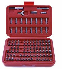 100PC CHROME VANADIUM SCREWDRIVER SECURITY TORX HEX TAMPERPROOF BIT SET in CASE