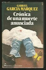 G Garcia Marquez Book Cronica De Una Muerte Anunciada 1st Ed 1981