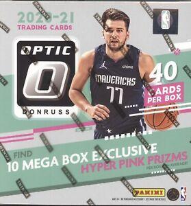 *1 MEGA BOX* 2020-21 PANINI DONRUSS OPTIC BASKETBALL FACTORY SEALED 10 PACK MEGA