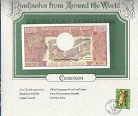 World Banknotes Cameroon Cameroun 500 Franc 1983 P-15d UNC Serie W.16