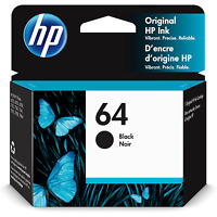 HP 64 | Ink Cartridge | Black | ~200 pages | N9J90AN