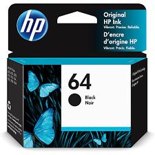 HP 64 Original Ink Cartridge, Black (N9J90AN)