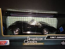 Motormax Chevrolet Corvette Convertible 1967 Noir 1/24