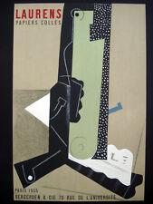 Henri Laurens Papiers Colles Lithograph Vintage Poster inv1036