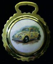 NEW 1964 RACING VW BEETLE Ceramic Horse Brass Volkswagen Gift! WOW YOUR WALLS!