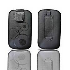 Movil bolsa estuche cover case funda negra para Sony Ericsson XPERIA ARC ARC S