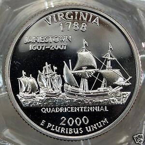 2000-S DEEP CAMEO PROOF VIRGINIA STATE QUARTER....#10122