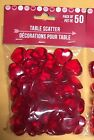 Valentines Day 50 RED Acrylic Hearts Scatter Table Vase Decoration Wedding Heart