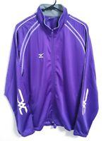 Mizuno Mens Size Large Purple Full Zip Soft Shell Polyester Activewear Jacket