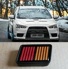 For Mitsubishi Evo X RalliArt Front Mesh Grill Emblem Set 2007-2015