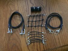 Black Scale Roof Cargo Net + 2 Tow Straps + 6 Bungee Cords +Sleeping Bag AXIAL