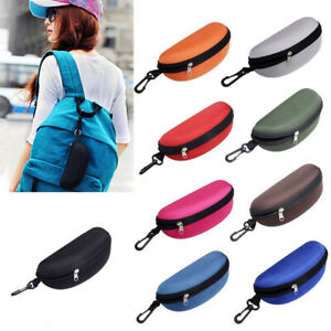 US_ Portable Glasses Eyeglasses Protective Safety Zippered Hard Case Carry Box