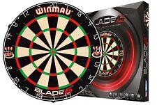 "Dartboard WINMAU Original ""Blade 5"" NOVELTY + 6 WA Steel darts in Gift Set"