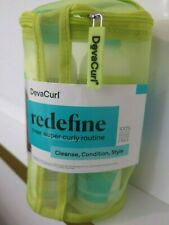 DEVACURL redefine  your super curly kit, routine. Cleanse, Condition, Style