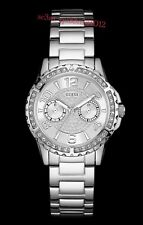AUTHENTIC GUESS LADIES' SASSY WATCH SILVER TONE RRP:$349 Brand New*