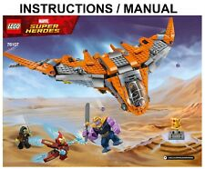LEGO Super Heroes 76107 Thanos: Ultimate Battle INSTRUCTIONS ONLY