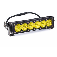 "Baja Designs OnX6+ LED Light Bar Wide Driving Straight 10"" Inch Amber Off Road"