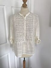 Zara White Cotton Shirt With Stud And Checked Detail, BNWT Size M (12)
