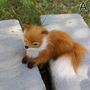 Simulation Animal Sitting Fox Plush Kids Toy Doll Sitting Fox Photography Decor
