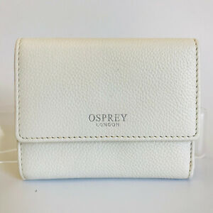 OSPREY LONDON Leather Card Holder Wallet & Zipped Coin Purse Womens GIFT