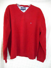 Tommy Hilfiger XXL V Neck Pullover Sweater  LS  Red shade zorfd2