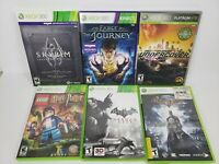 Lot Of Six Xbox 360 Games Lego Harry Potter, Batman, Fable, NFS, Skyrim (Disc 2)