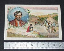 CHROMO 1900-1910 BON-POINT EXPLORATEURS CELEBRES JAMES GRANT AFRIQUE NIL